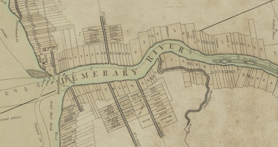 Demerara River Plantation Map