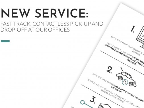 NEW SERVICE: Fast-Track, Contactless Pick-Up and Drop-Off At Our Offices