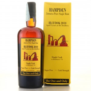 Hampden HLCF-DOK 2010 Habitation Velier 9 Year Old Single Cask #76