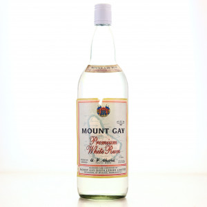 Mount Gay Premium White Rum 1 Litre 1980s
