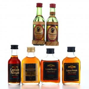 Dark Rum Miniatures x 6 1970s-80s