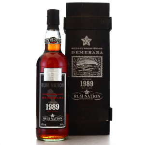 Demerara Rum 1989 Rum Nation 23 Year Old Sherry Wood Finish