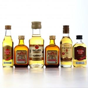 Caribbean Rum Miniatures x 6