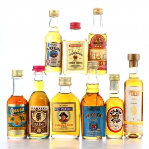 Rum Miniatures x 9 / Including Old Charlie