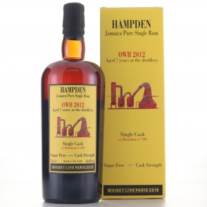 Hampden OWH 2012 Habitation Velier 7 Year Old Single Cask / Whisky Live 2019