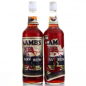 Lamb's Navy Rum 1980s x 2