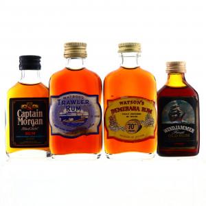 Dark Rum Miniatures x 4 1970s