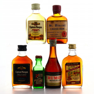 Blended Rum Miniature Selection x 6 1970s-80s