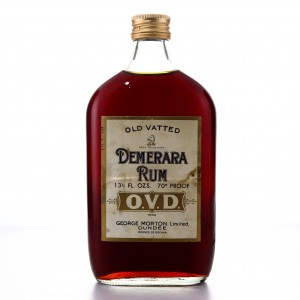 George Morton 'OVD' Old Vatted Demerara Rum Half Bottle 1970s