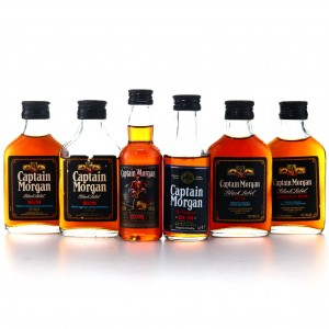 Captain Morgan Miniatures x 6 / Black Label 1970s