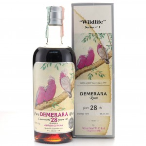 Demerara Rum 1974 Silver Seal 28 Year Old / Wildlife No.1