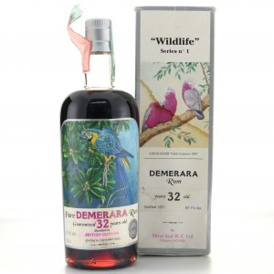 Demerara Rum 1971 Silver Seal 32 Year Old / Wildlife No.1