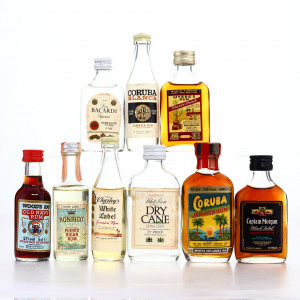 Rum Miniatures x 9 / includes Wood's 100