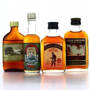 Jamaican Dark Rum Miniatures x 4 1970s-80s