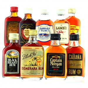 Blended Rum Miniature x 9