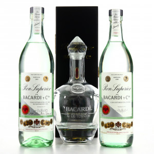 Bacardi Superior Heritage 70 & 75cl with Decanter
