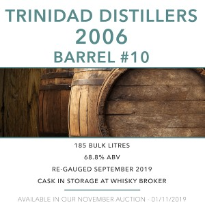 1 Trinidad Distillers 2006 Barrel #10 / Cask in storage at Whiskybroker