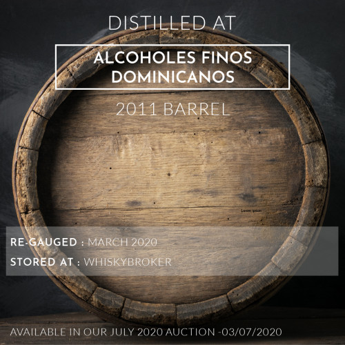 1 Alcoholes Finos Dominicanos 2011 Barrel / Cask in storage at Whiskybroker