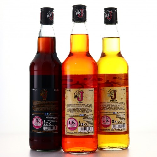 Admiral's Old J Spiced Rum Selection 3 x 70cl